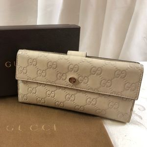 🆕 Gucci GG Long Bifold leather Wallet Purse